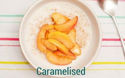 Caramelised Cinnamon Apples on Coconut Porridge