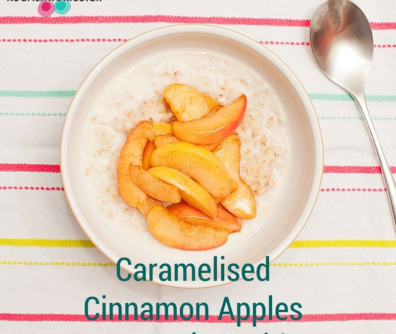 Caramelised Cinnamon Apples on Coconut Porridge