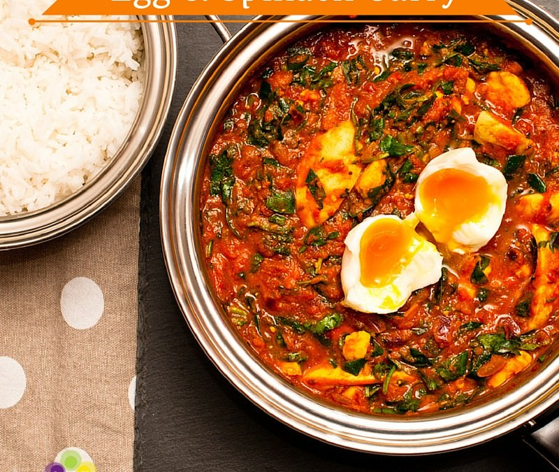Egg and Spinach Curry