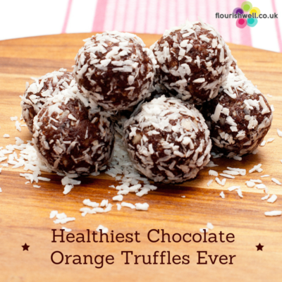 Healthiest Chocolate Orange Truffles Ever | Flourish Wellbeing