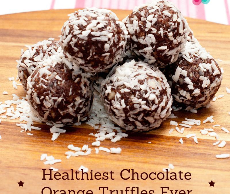Healthiest Chocolate Orange Truffles Ever
