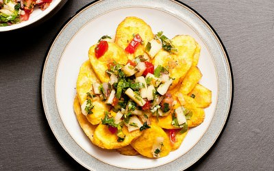 Plantain with Tropical Salsa