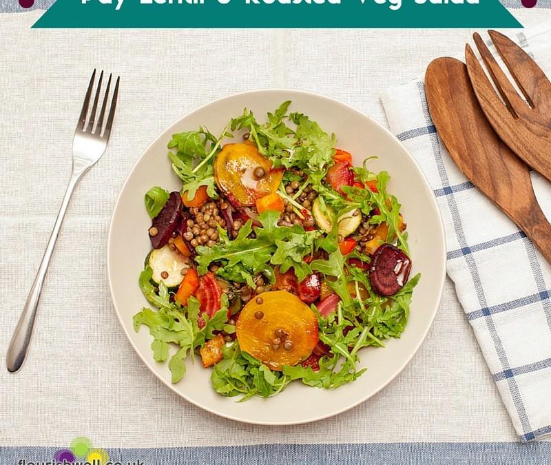 Puy Lentil & Roasted Veg Salad