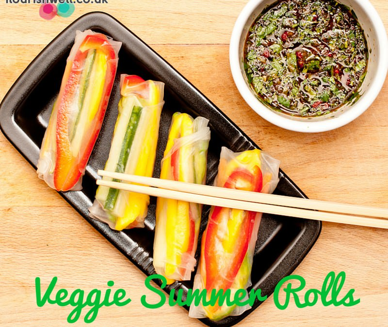 Veggie Summer Rolls With Spicy Dip
