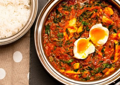 Egg & Spinach Curry