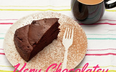 Very Chocolatey Gluten Free Vegan Friendly Cake