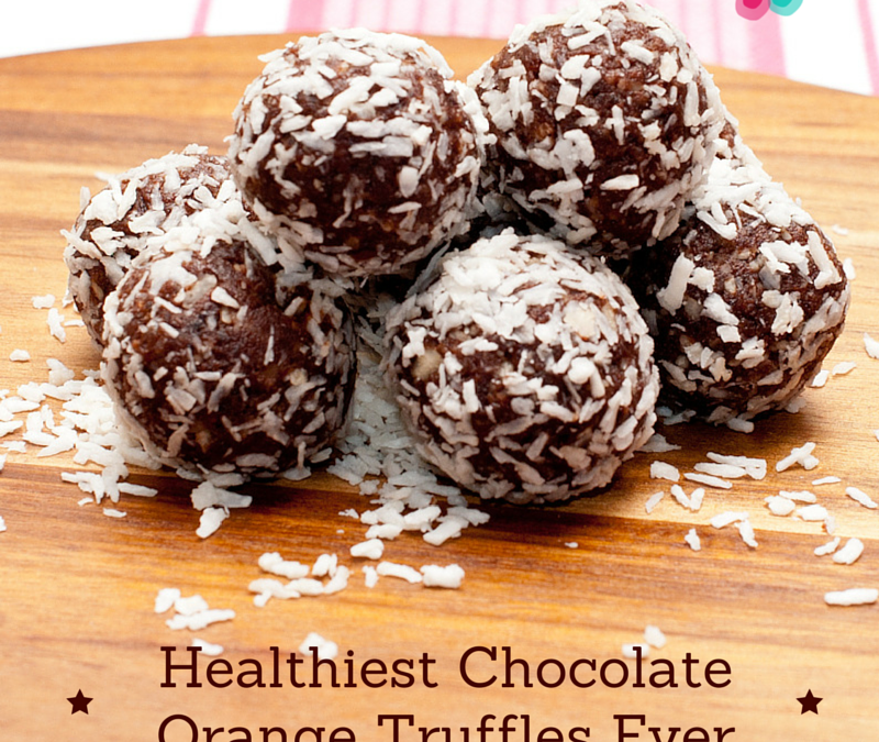 Healthiest Chocolate Orange Truffles Ever