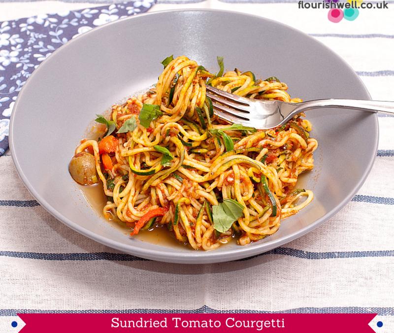 Sundried Tomato Courgetti