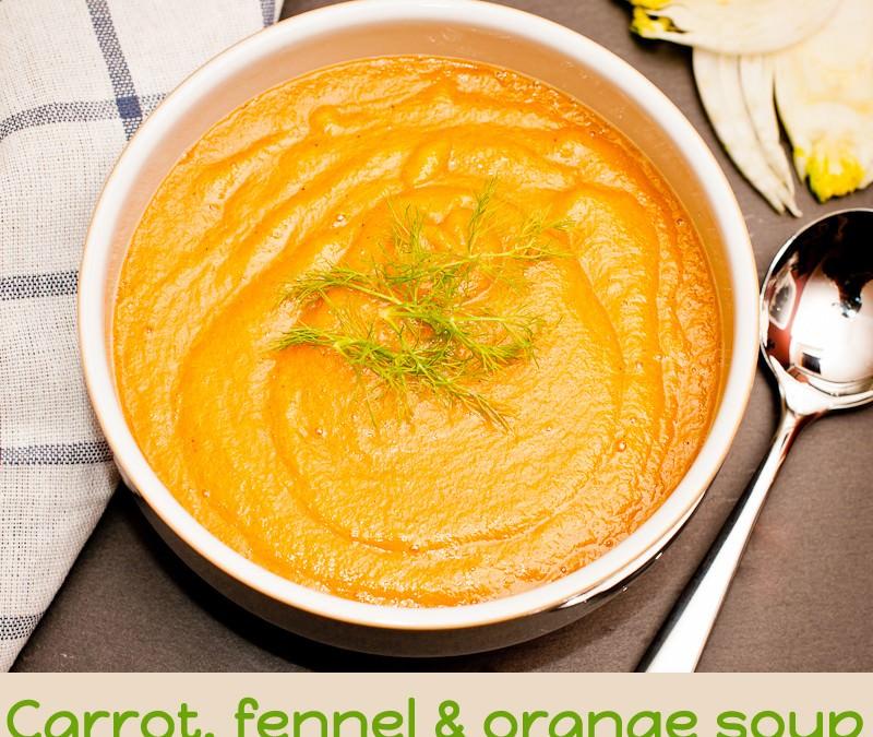 Carrot, fennel & orange soup